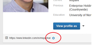 LinkedIn Public profile settings