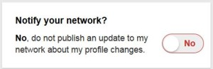 LinkedIn notify network