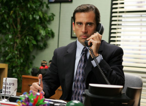 "In this undated publicity photo released by NBC, actor Steve Carell appears in this scene from the television series ""The Office."" Carell was nominated for lead actor in a comedy series, Thursday, July 6, 2006, when the nominations for the 58th Annual Primetime Emmy Awards were announced in Los Angeles. (AP Photo/NBC, Justin Lubin)"